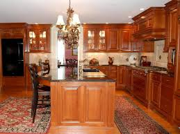 Kitchen Oven Cabinets by Cherry Kitchen Cabinets With Granite Countertops White Kitchen