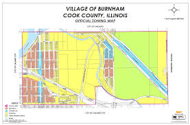 Chicago City Limits Map by Zoning Map Village Of Burnham