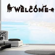 online get cheap word wall designs aliexpress com alibaba group 2017 new era creative design welcome word cat model diy home room decoration art wall stickers