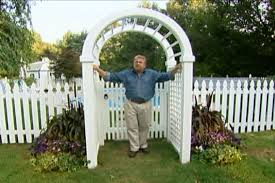 Backyard Arbor Ideas How To Put Up An Arched Garden Arbor U2022 Diy Projects U0026 Videos