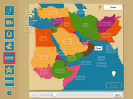 middle east map with country name iworld geography middle east region mapping skills teachers