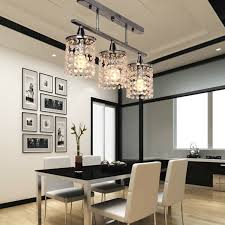 Cheap Dining Room Chandeliers 3 Lights Hanging Led K9 Linear Chandelier With Stainless