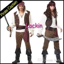 Halloween Jack Sparrow Costume 2015 Pirates Caribbean Cosplay Costume Captain Jack Sparrow