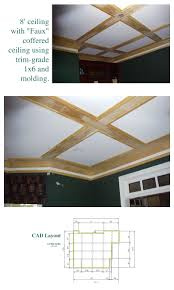 build a coffered ceiling ceilings tutorials and trim board