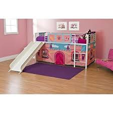 Bunk Bed Castle Princess Castle Loft Bed With Slide Bunk Bed