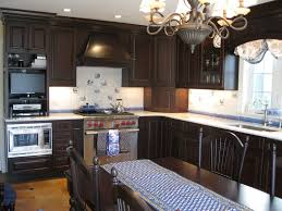Dark Kitchen Ideas Kitchen Cabinet White Kitchen Counter Backsplash Dark Brown Oak