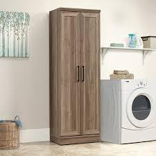 oak finish storage cabinet sauder homeplus storage cabinet salt oak finish walmart com