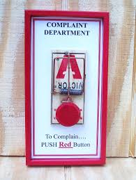 gift complaint department sign would be funny if it was