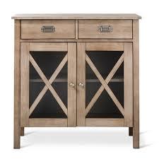 Two Door Cabinet Rustic X Two Door Cabinet Weathered Wood Threshold Target