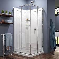 23 Inch Shower Door Dreamline Cornerview 36 In D X 36 In W X 76 3 4 In H Sliding