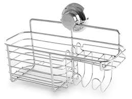 amazon com bino smartsuction chrome shower caddy combo basket