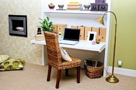 home office in living room design small office white living room