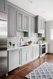 gray walls with stained kitchen cabinets 25 ways to style grey kitchen cabinets