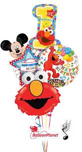 singing birthday delivery birthday singing elmo w mickey personalized name balloon