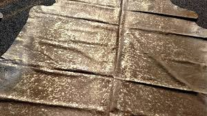 gambrell renard classic light beige gold metallic cowhide rug