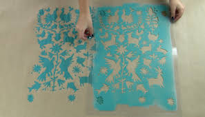make diy gift wrapping paper using stencils stencil stories