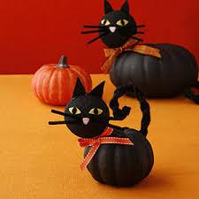 Decorate Pumpkin Make Halloween Black Cat Decorations Allyou Com