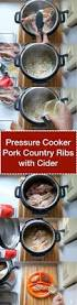 pressure cooker pork country ribs with cider and mustard
