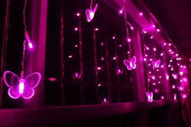 Purple Butterfly Christmas Decorations by Curtain Fabric Picture More Detailed Picture About Led Warm