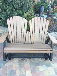 Loveseat Glider Charlotte Poly Lumber Furniture U0026 Adirondack Chairs Visions