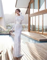 robe de mari e dentelle manche longue 2015 new élégant complet manches longues sirène robes de mariée en