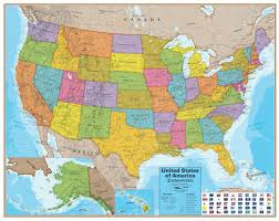 Map Of The United States In Color by Wall Map Of The United States Laminated Just 19 99