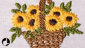 Flower Designs For Embroidery Embroidery Flower Basket Stitch Design For Baby Cloths