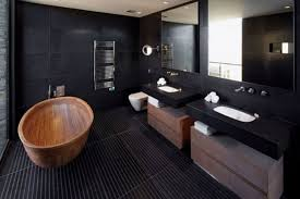 awesome bathroom ideas awesome bathroom decor with black wall and two balck vanity and