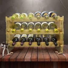 sorbus wine rack stand sorbus 3 tier stackable bamboo 18 bottle tabletop wine bottle rack