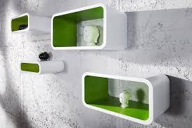 wandregal design 4er set design regal club cube weiss grün retro lounge wandregal