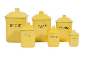 Kitchen Canisters Ceramic Sets French Ceramic Canisters Set Of 6 Omero Home