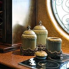 green canister sets kitchen artimino fleur de lis canister metal rack earthenware and dillards