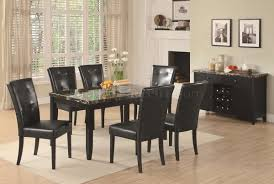 Dining Table Marble Top Cappuccino U0026 Dark Faux Marble Top Modern Dining Table W Options