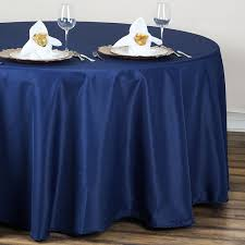 navy blue table linens navy blue tablecloth for round table for rent vintagebash