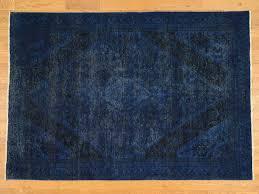 6 u00279 u0027 u0027x9 u00278 u0027 u0027 hand knotted navy blue overdyed persian tabriz worn