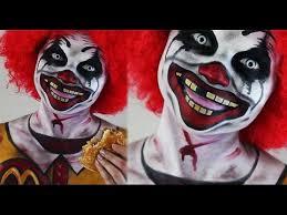 Ronald Mcdonald Halloween Costume Ronald Mcdonald Creepy Clown Halloween Makeup U0026 Face Paint