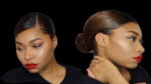 middle part bun hair buns middle and side part sleek low buns keyera michelle