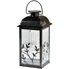decorative hanging solar lights shop gemmy 5 3 in x 12 2 in black glass solar outdoor decorative