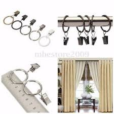 Curtain Hook With Clip 40pcs Metal Window Curtain Hook Drapery Clip Rings Eyelets 1