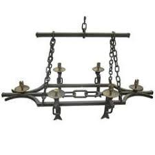 Leather Chandelier Equestrian Wrought Iron Leather Chandelier At 1stdibs