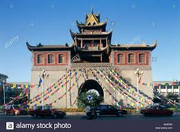jiefang china ningxia yinchuan gulou drum tower jiefang jie