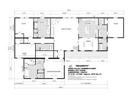 Triple Wide Mobile Homes Floor Plans by Dvt 7204b