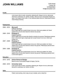 Where To Find Resumes For Free Online by Resume Templates Free Printable Berathen Com