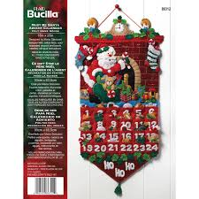Home Decor Distributors U S A by Bucilla Seasonal Felt Home Decor Advent Calendar Kits