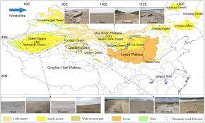 Taklamakan Desert Map Modern Dust Aerosol Availability In Northwestern China