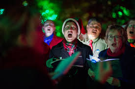 christmas carolers christmas carolers belt out some tunes photo by pat