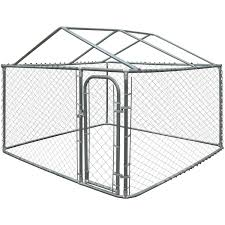Kennel Floor Plans by Aleko Dog Kennel Diy Chain Link Box Kennel With Roof Frame