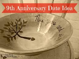 ninth anniversary gifts 9th anniversary pottery idea for anniversary date