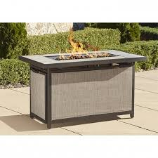 rectangle propane fire pit table best cosco outdoor serene ridge aluminum propane gas fire pit table