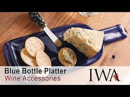 wine bottle platter blue wine bottle serving platter unboxing